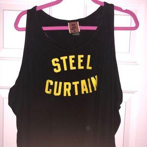 NWOT Steelers Steel Curtain Nike Racerback Tank 3x